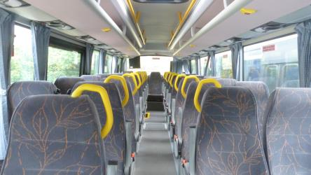 Bus interior showing seating