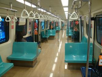 Interior of Metro Taipei