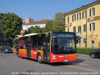 Urban bus in Bergamo