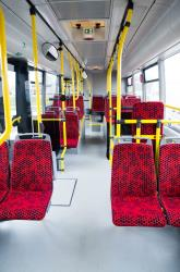 Interior of Urban Bus in Tartu