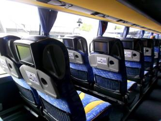 Eurolines seating with entertainment system