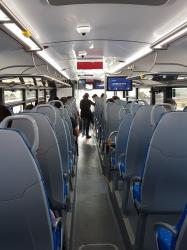 Cotral bus interior view