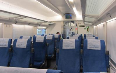 Inside Afrosiyob train