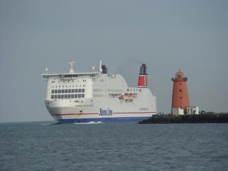 Arriving at Dublin Port
