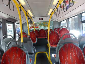 Interior of McGills Bus Service