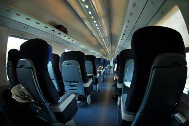 Interior of TrenItalia Intercity