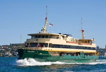 The  Manly Ferry on Sydney Harbour