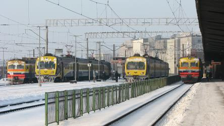 Trains at Riga station