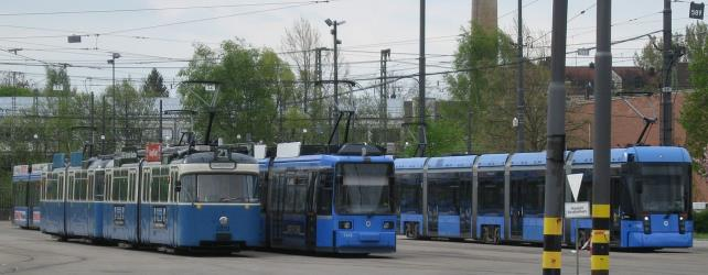 P, R and S Class trams in Munich depot