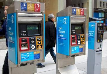 Street ticketing machines