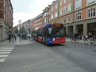 Bus line 2A on Boulevarden in Aalborg