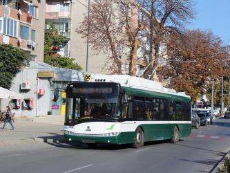 Trolleybus on route 1