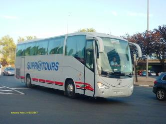 Supratours bus front and side