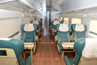 First Class carriage interior