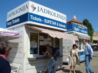 Jadrolinija ticket booth in Split