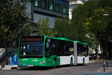 Articulated bus in Graz