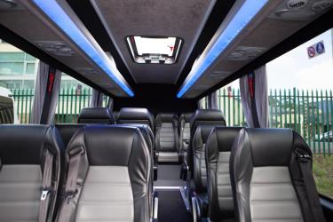 Leather Interior of 16 Seater