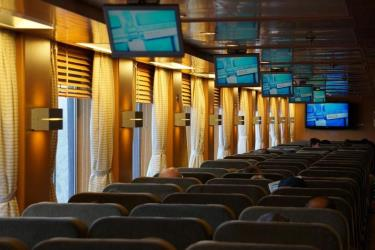 Inside seating on Blue Star
