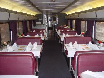 The onboard dining car