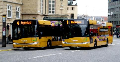 Two city buses