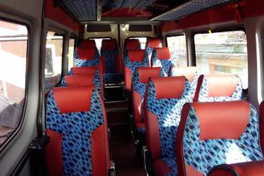 Balkan Express mini bus seats