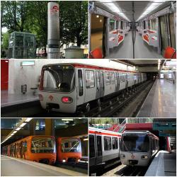 Montage of images of the Lyon Metro