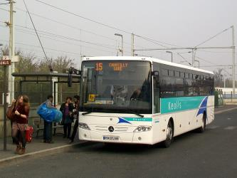 Bus front and side view