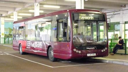 The Keyworth route bus